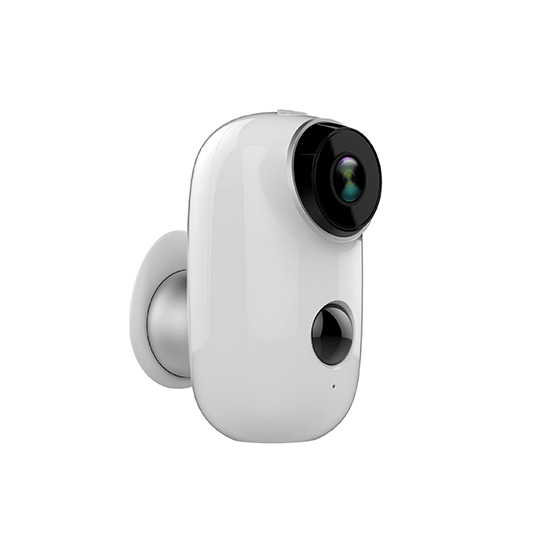 720P HD 100% wire-free IP65 Certified Weather-resistant Rechargeable Battery Powered Smart Security Camera with Audio