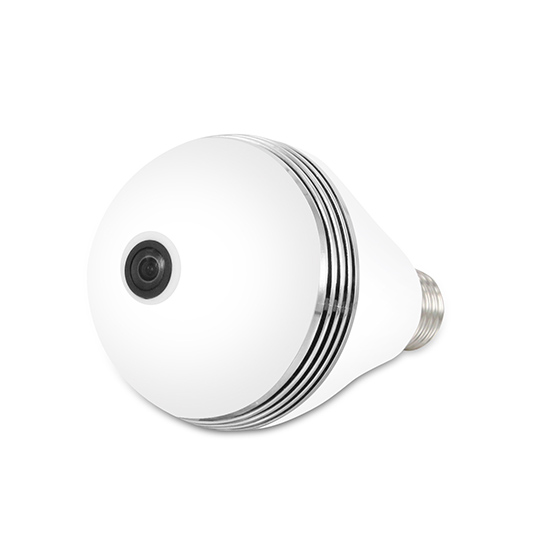 White Lights+IR LED 360EyeS Wireless WIFI 360degree VR Panoramic 960P HD Home Bulb IP Camera