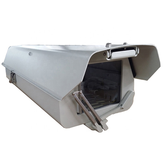 Aluminium IP66 Waterproof Outdoor Monitor Security CCTV Camera Housing Heater Forced-air cooling Sun Shield Wiper