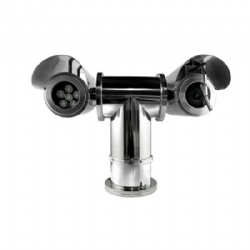 2megapixels 304 Stainless Steel 1080P Explosion-proof Binocular High-speed Integration PTZ IR LED IP Camera