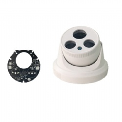 IP66 Waterproof ABS Plastic CCTV Security Surveillance Dome Camera Housing Shell Cover Case with 2*Array IR LED Board